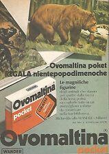 X0962 Ovomaltina Pocket - Figurine animali - Pubblicità del 1976 - Advertising