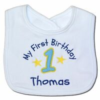 First/1st Birthday Personalised Baby Bib - Party - Boy/Girl - Gift/Present