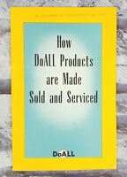"DoAll Company 1950s ""How Products Are Made & Sold"" Booklet Industrial Saws Tools"