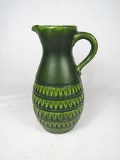 "Vintage Jasba Keramik 8"" tall Vase Pitcher Jug West German Pottery 60s-70s Green"