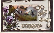 Birthday Greetings Original Vintage Postcard. Tuck's Gem Glosso R 2401 (G1)