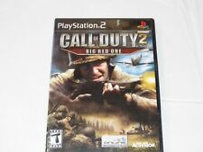 Call of Duty 2: Big Red One Sony PlayStation 2 PS2 2005 T-Teen Shooter