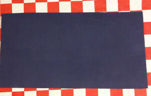 """AUTHENTIC HORWEEN 4 oz ROYAL BLUE DRYDEN LEATHER HIDE, 12"""" x 6"""", NAT. QLTY."""