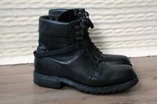 G-Star Raw Footwear GS11400 Black Leather Combat worker biker army boots