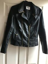 Vero Moda Faux Leather Jacket, Black, Size M