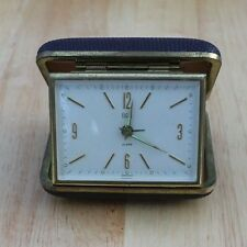 Vintage Elgin Travel Alarm Clock, Germany, Tested and Running, Luminous hands
