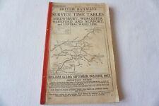 More details for 1952 western region railway working timetable no 12 shrewsbury worcester newport