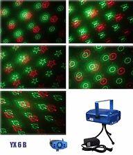6 in 1 LED Laser Bühnenlicht Disco Party Lichteffekt  Lampe Projektor GX6B