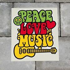 Colourful Peace Love Music Symbol CND Vinyl Sticker Decal Car Van Bike - SKU6579
