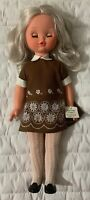 Vintage 1960 L Furga Doll Made in Italy With Clothes Blonde Hair Eyes Open/Close