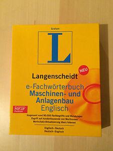 Langenscheidt Fachwörterbuch Maschinen- und Anlagenbau