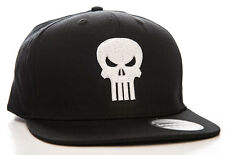 Cappello Marvel The Punisher Embroided Skull logo Snapback Cap Hat nero