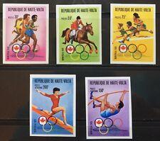 Upper Volta #390-2. C231-5 Olympics Imperf. Mnh