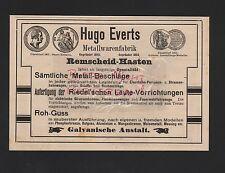 Remscheid-apresuran, visualización 1909, hugo everts productos metálicos fábrica