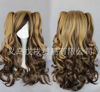 Color mixture Hair WIG Long Curly Bangs Heat Resistan Women Costume Cosplay L61#