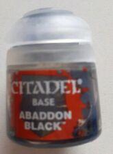 Games workshop 21-25 citadel Base Abaddon Black 12 ml