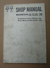 HONDA CB/CL 125 175 SHOP mamual supplementary _ OFFICINA-MANUALE complemento