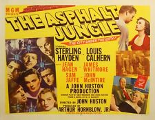 ASPHALT JUNGLE, THE (1950) Half sheet poster classic noir ft. Marilyn Monroe