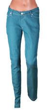 Jeans da donna slim, skinny bassi verde