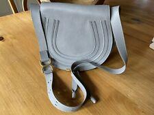 Chloe Marcie Medium Leather Shoulder Bag Women's Grey