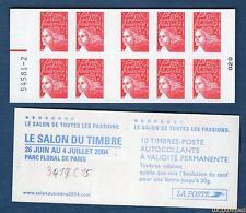 Carnet - 3419 C15 - Numéro Trait Rouge - Type Marianne du 14 Juillet RF - TVP ro