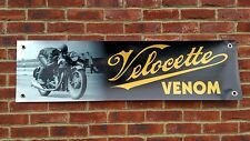 BR75 VELOCETTE VENOM 500 CLUBMAN BANNER GARAGE WORKSHOP SIGN