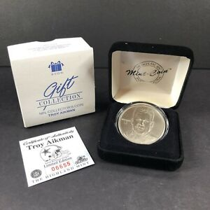 Avon NFL Collectors Coin Troy Aikman - Highland Mint Coin With COA NEW