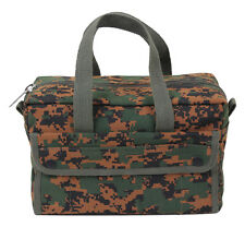 Heavyweight Military Mechanics Standard Tool Bag Camo Olive Black Rothco 9181