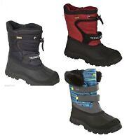 Boys Waterproof Snow Boots Fur Lined Wellies Trespass Size uk 10 11 12 13 1 2 3