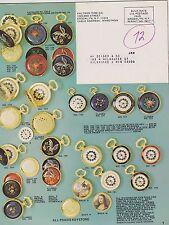 1972 VINTAGE CATALOG #2001 - KALTRON TIME CO - WATCHES