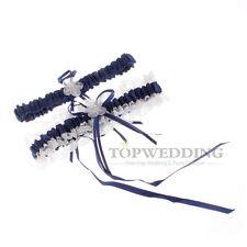 Wedding Toss Garter Satin Lace Wedding Bridal Toss Garter Belt Set