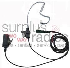2 WIRE SURVEILLANCE HEADSET PTT FOR ICOM F3001 F4001 F4011 F3011 F3021 F24 F11
