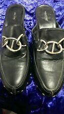 """""""CLOGS"""" BLACK LEATHER BY """"WANTED"""" VERY HOT LOOKING ! IT'S """"CLOG"""" WEATHER  NOW !"""