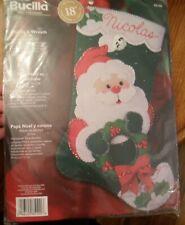 Bucilla Santa & Wreath Stocking Kit