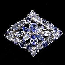 Sterling silver 925 Genuine Natural Blue Violet Tanzanite Ring Size L.5 (US 6)