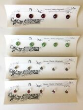 Susan Clarke Glass Rhinestones Buttons Originals Mixed Colors Stones Gems Lot 4p