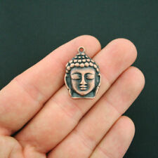2 Buddha Charms Antique Copper Tone - BC893