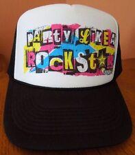 PARTY LIKE A ROCKSTAR ROCK STAR ENERGY DRINK FOAM MESH TRUCKERS SNAPBACK CAP/HAT