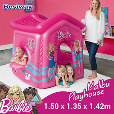 Bestway Barbie Malibu Playhouse Inflatable Pink play House Toys for girl 93208
