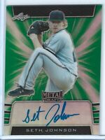 Seth Johnson 2019 Leaf Metal Green Auto RC #ed /10 Rays