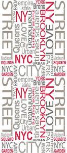 Pop Up Panel / Wandpanel Schrift / A.S. Creation 94239-1 / New York / 15,94 €/qm