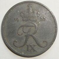 1953 DENMARK 5 ORE  NICE WORLD COIN
