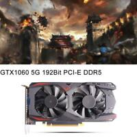 Graphics Card GTX1060 5G 192Bit PCI-E DDR5 Video Gaming Triple Fan  US