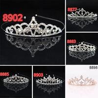 Rhinestone Crystal Tiara Hair Band Kids Girl Bridal Princess Prom Crown Headband