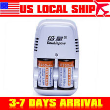 CR2 Travel Wall Charger with 2PCS CR2/15270 Li-ion Rechargeable Battery
