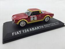 fiat 124 abarth pinto-bernacchini portugal 1974  n19/70 1/43 voitures de rallye
