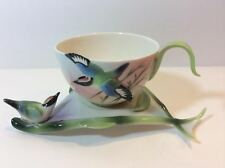 FRANZ Bamboo Songbird Tea Cup and Saucer FZ00570 EUC
