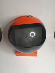 JVC Videosphere Vintage TV Television Orange Retro Gaming 70s UK Plug With Stand