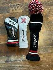 Lot of 3 Titleist Head Covers - Driver, Wood and Hybrid - Excellent Condition!