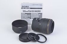 MINT- SIGMA EX 105mm f2.8 DG MACRO LENS FOR SONY A-MOUNT, HOOD+CAPS+UV, NICE